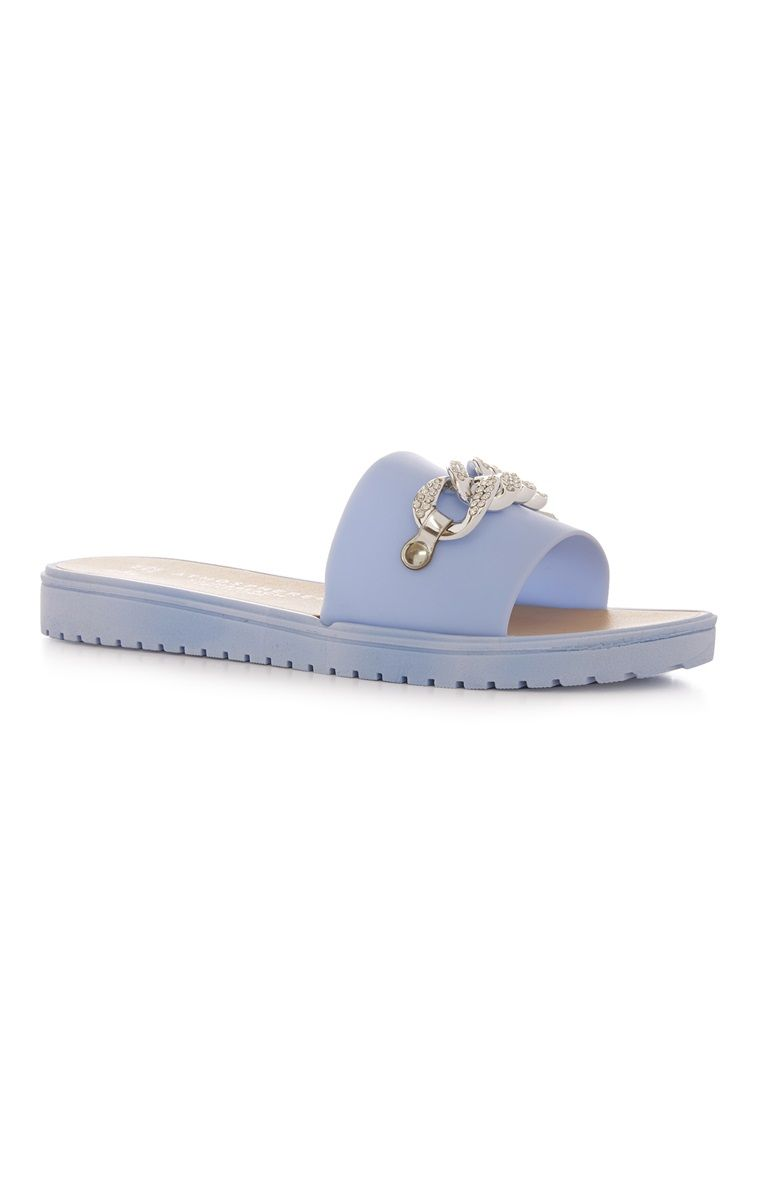 Blue Diamante Chain Slider | Chain