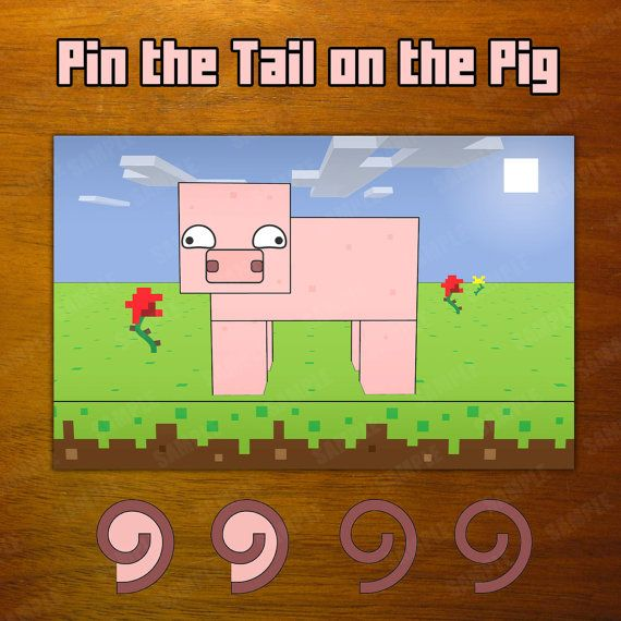 Mineventure Party Game Instant Download Pin The Tail On The