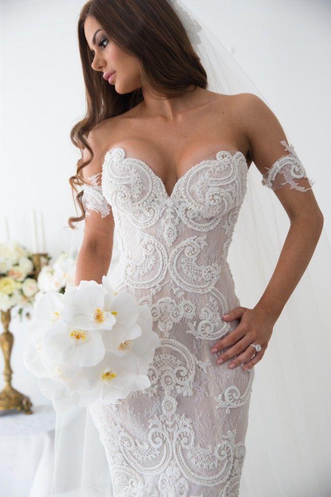Steven Khalil, Size 6 | Wedding dress, Lace mermaid and Mermaid ...