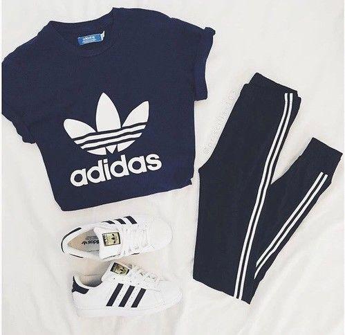 chaussures de sport 889ae 70330 Tenue de sport Adidas,avec tee-shirt,pantalon et basket ...