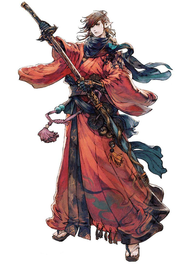 Anime Character Design Career : Samurai from final fantasy xiv stormblood character