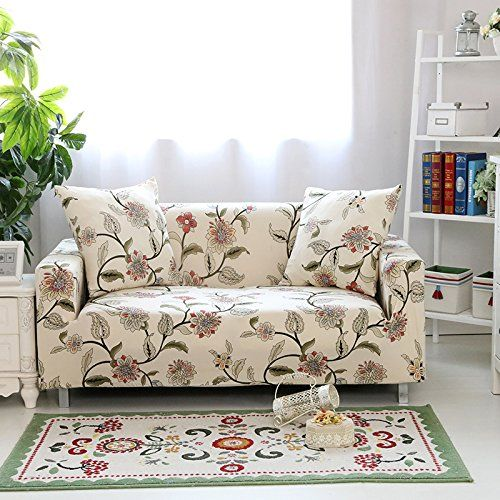 Yiwant Sofa Slipcover Protector Cover Flower Printed Pol With Images Sofa Covers