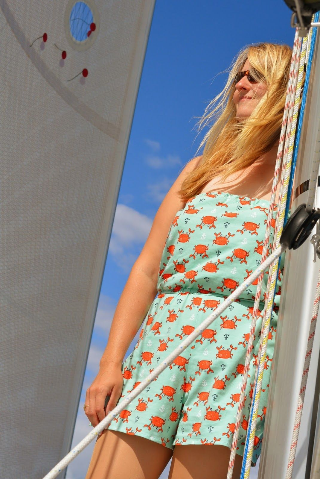Playsuit, Pattern and Fabric from 'Zierstoff'