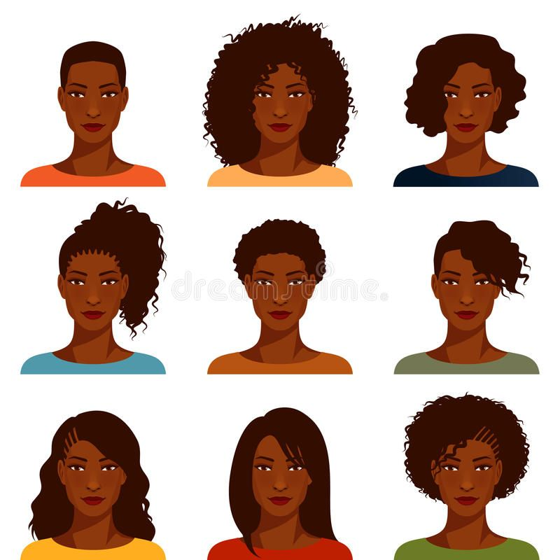 African American Women With Various Hairstyle Beautiful African American Women Sponsored African American Hairstyles African American American Hairstyles