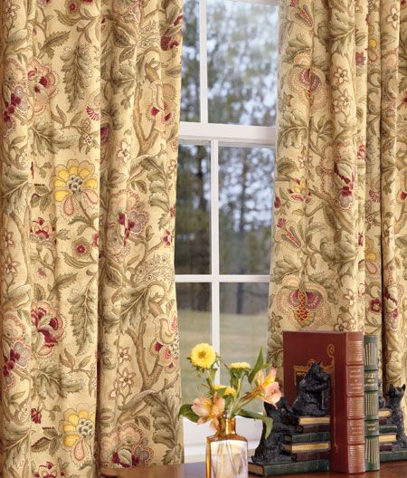 Hatfield lined rod pocket curtains living room curtains drapes window treatments for Lined valances for living room