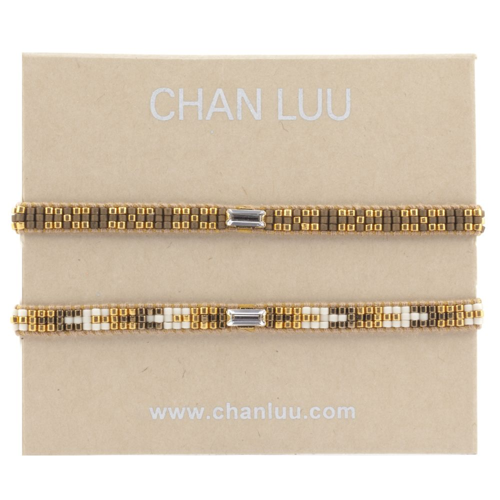Chan Luu - Gold Mix Friendship Bracelet Set, $90.00 (http://www.chanluu.com/bracelets/gold-mix-friendship-bracelet-set/)