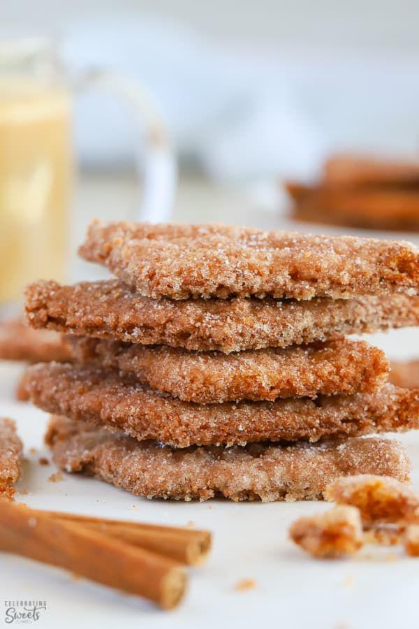 Cinnamon Sugar Cookies - Celebrating Sweets #cinnamonsugarcookies