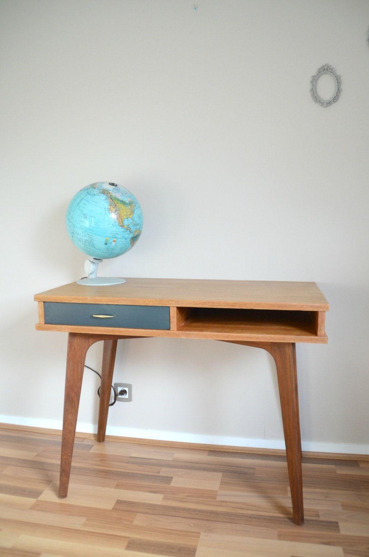 Muebles Bois Massif - Bureau En Bois Massif Vintage Pieds Compas Style Scandinave [mjhdah]https://s-media-cache-ak0.pinimg.com/originals/96/fd/16/96fd16c20143682a1b8492298de2b7e2.jpg