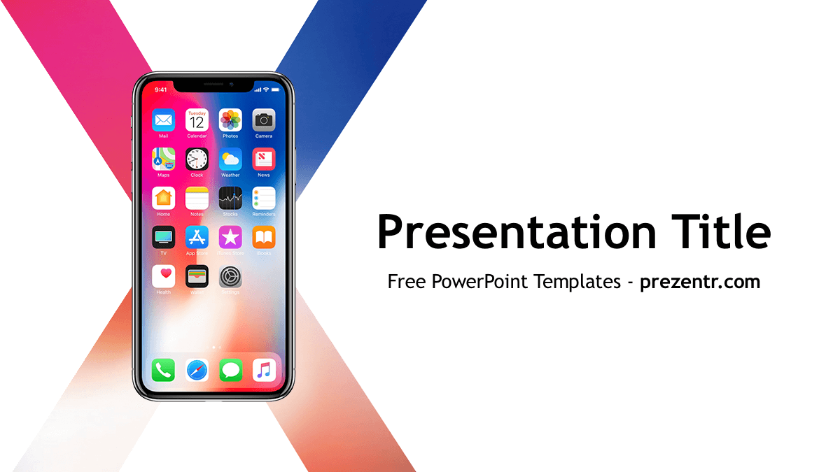 iPhone X PowerPoint Template | PowerPoint Templates | Ppt template, Free iphone, Templates