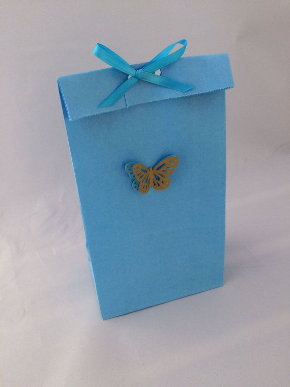 Cinderella Erfly Party Favor Bag Thank You Tag And Ribbon 10