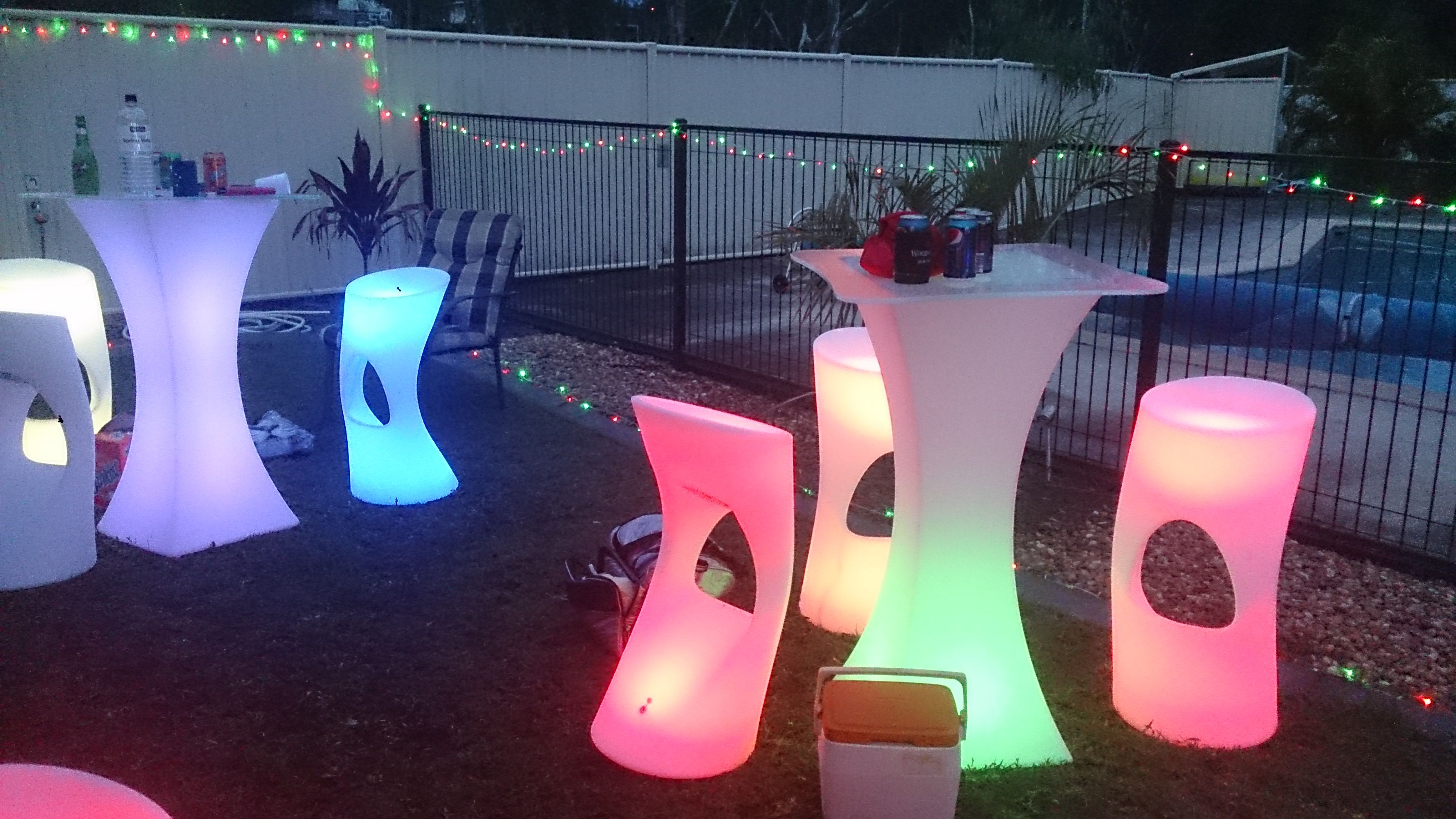 Glow Furniture For Hire Give Your Party Real Wow Www Invisions