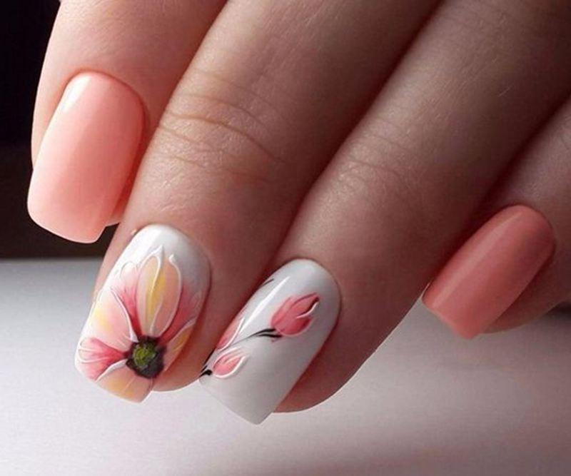 50 Sweet Pink And White Nail Design Ideas White Nail Designs Stylish Nails Designs Nail Designs
