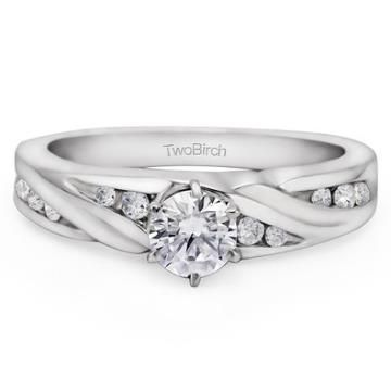 https://ariani-shop.com/beautiful-promise-engagement-ring-set-with-forever-brilliant-created-by-charles-colvard-in-14k-gold Beautiful Promise Engagement Ring set with Forever Brilliant Created by Charles & Colvard in 14k Gold