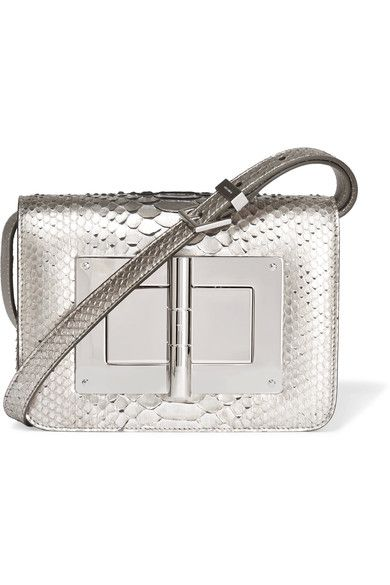 2a64555b6c88 TOM FORD Natalia small metallic python shoulder bag.  tomford  bags   shoulder bags  metallic