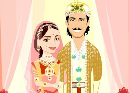 Indian Wedding Invitation Vector Card 2 Week by CharactersOnly - best of invitation card format for vastu shanti