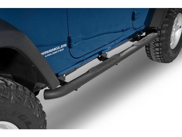 Jeep JK 4 Door 07-14 Black 3 Side Steps