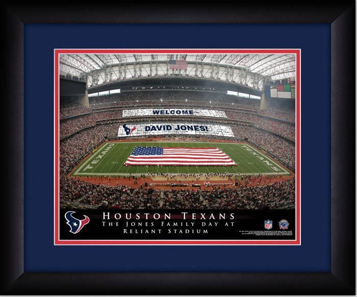Your Name on a sign in Relient Stadium, Your Day at the Stadium.  Great gift for Texans Fans. Customize with your name on cards held by the fans and make it Your Day at the stadium. #Texans