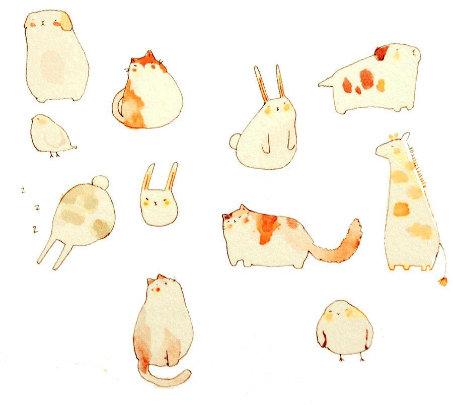 LU4E ~ Last Song ~, tofuvi: mochi creature doodles!