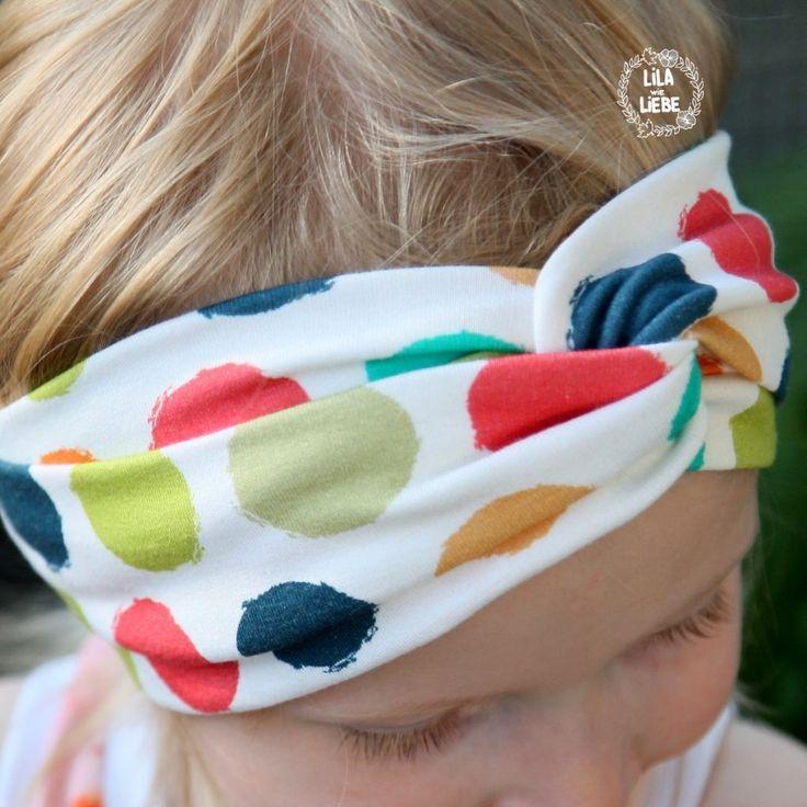 Haarband für Kinder - 3 kostenlose Schnittmuster im Test - Lila wie Liebe #gratismønster