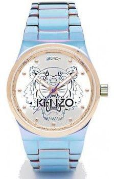 Iridescente Kenzo Iconique Et Femme Montre Bleu Rose 36mm eED29IYHW