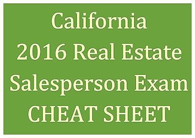 2016 California Real Estate Salesperson Exam Study Guide