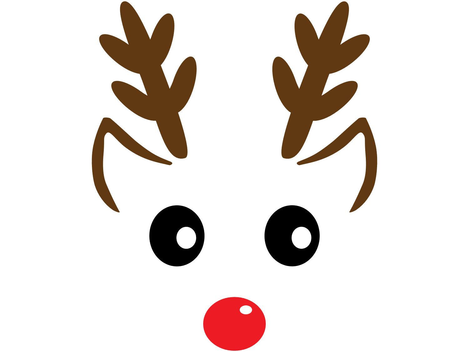 Winter Holiday Christmas Clip Art Reindeer Face With Ears Etsy Christmas Paper Crafts Paper Christmas Decorations Christmas Drawing