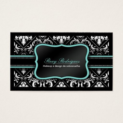 Elegant black and white damask salon and spa business card cartao elegant black and white damask salon and spa business card reheart Choice Image