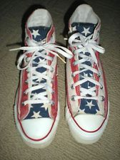 MADE in USA American Flag Chuck Taylor Converse Hi shoes sz