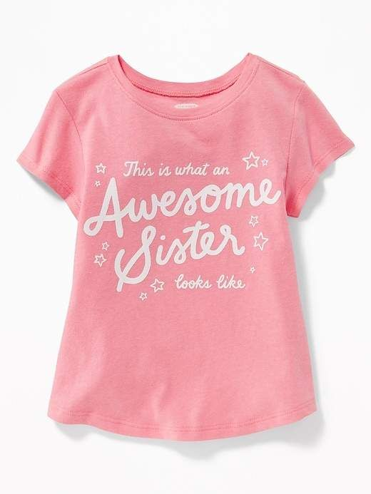 57b1c9a62 Graphic Crew-Neck Tee for Toddler Girls | Products | Girls tees, Old ...