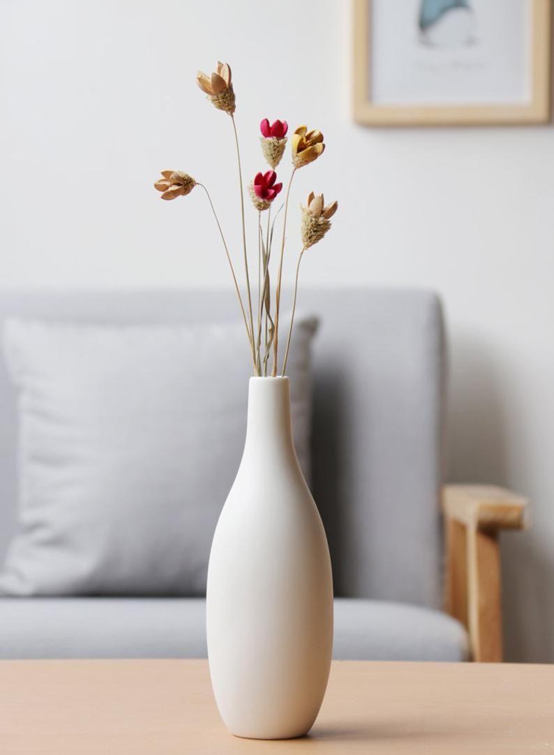 Small White Modern Vase Handmade Ceramic Vase Minimalist Decor Modern Air Plant Pot Flower Vase Gift Living Room Decor In 2020 Handmade Ceramics Vase Handmade Ceramics Flower Vase Gift
