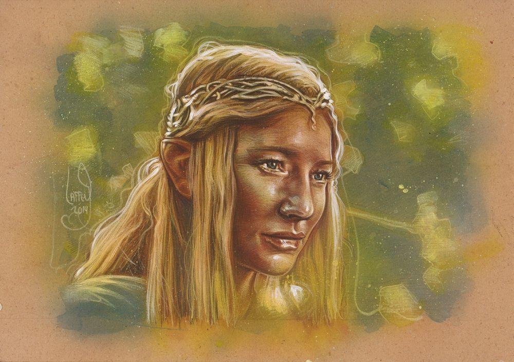 Galadriel, LOTR,Cate Blanchett Original Painting By Jeff Lafferty