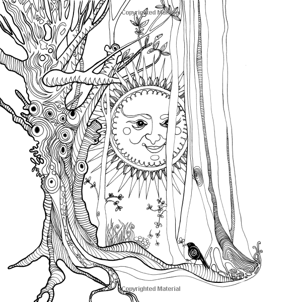 Tangle Wood: A Captivating Colouring Book with Hidden