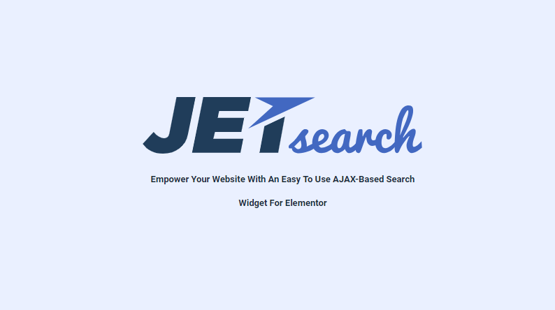 JetSearch v1 0 - A Premium Addon for Elementor WordPress