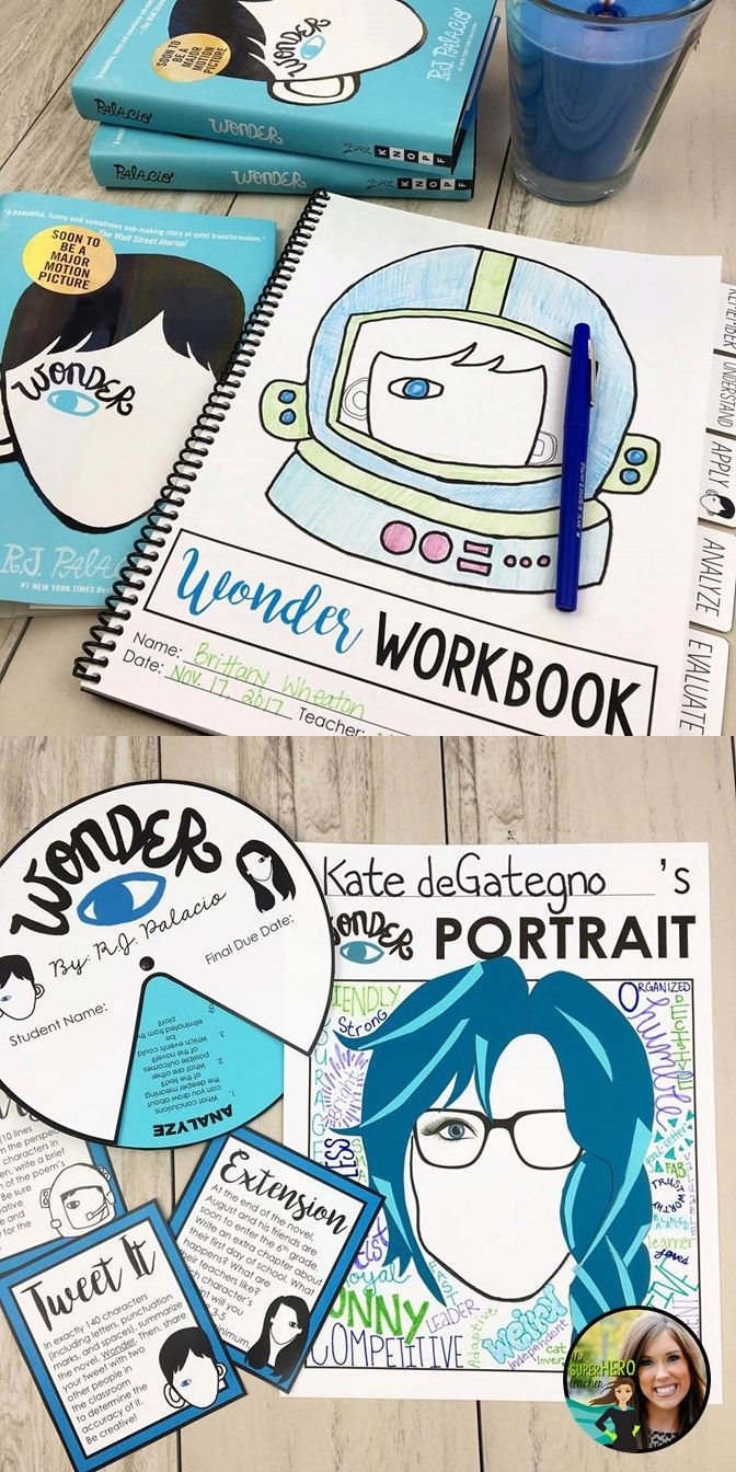 Wonder by R.J. Palacio Unit | Grades 5-10 | Wonder workbook | Teach kindness