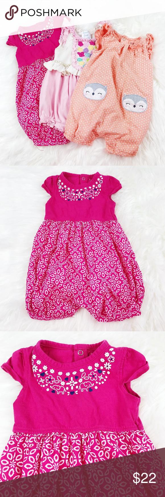 3efc8454b260  BABY GIRL  Lot of Rompers Simply Adorable Baby Girl Rompers! Pink   Orange