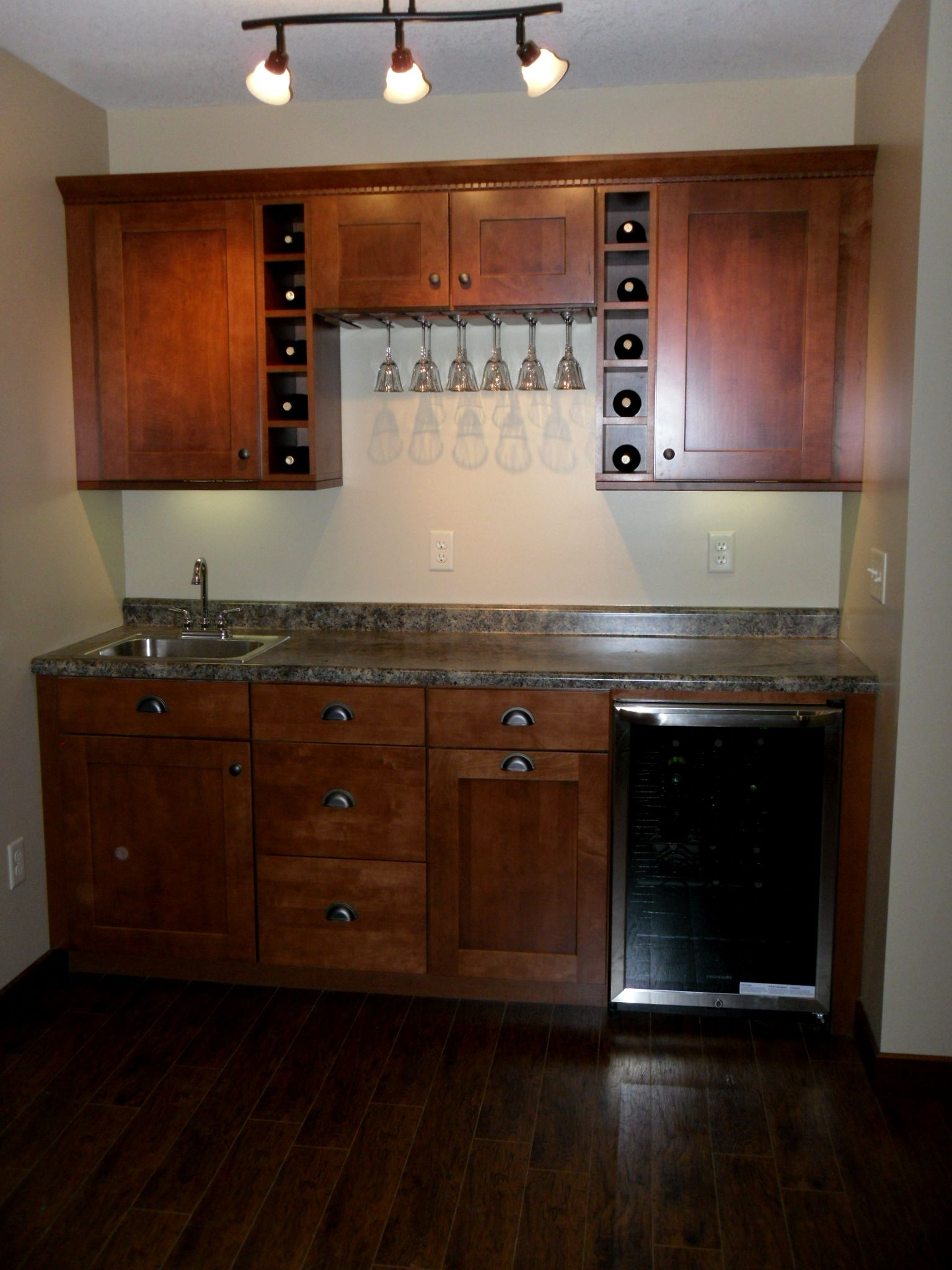 Our wet bar Cabinets from Home Depotlove  basement