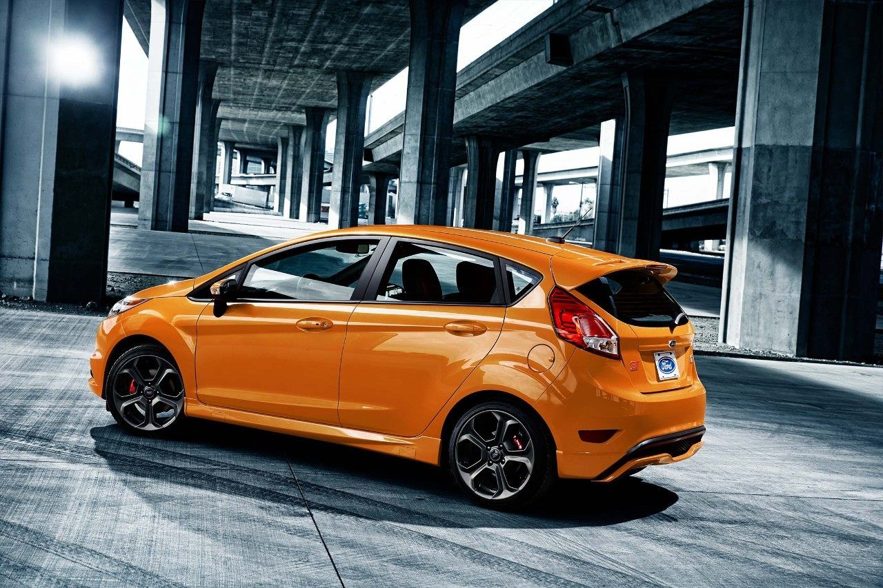 52f269e288b 2018 Ford Fiesta ST in Orange Spice Metallic Tri coat under a bridge ...
