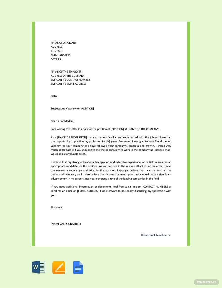 Free motivation letter for job application in 2020