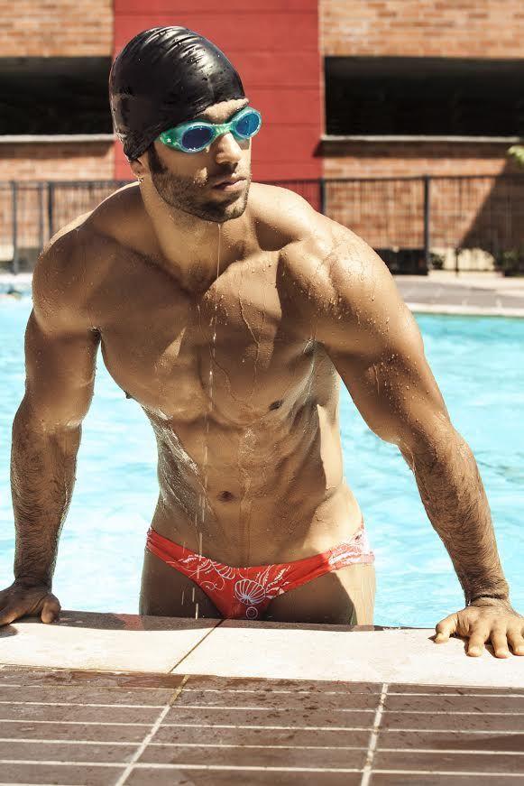 Erotic male swim wear
