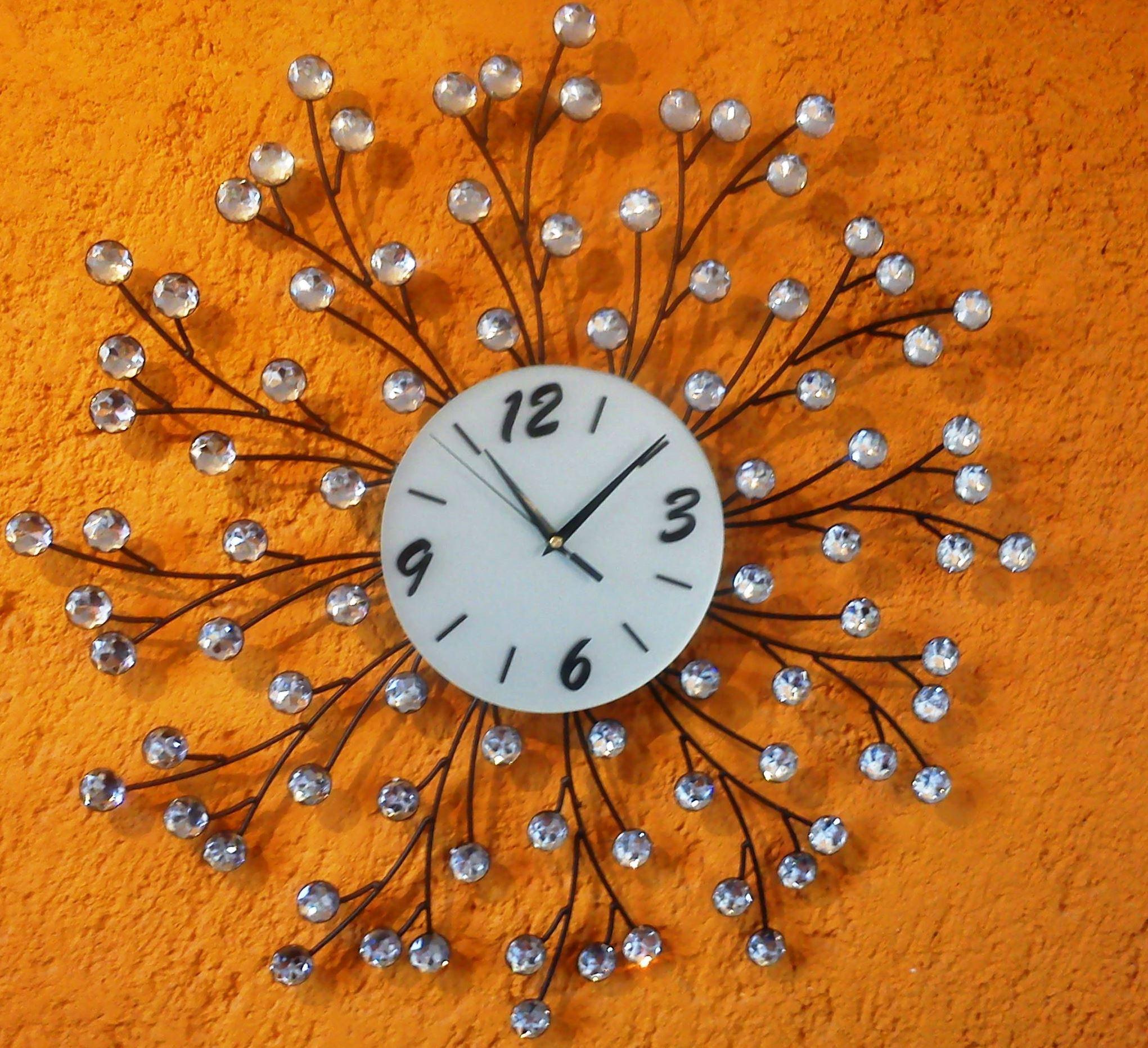 Reloj de pared original hecho a base de herrería y cristal ideal ...