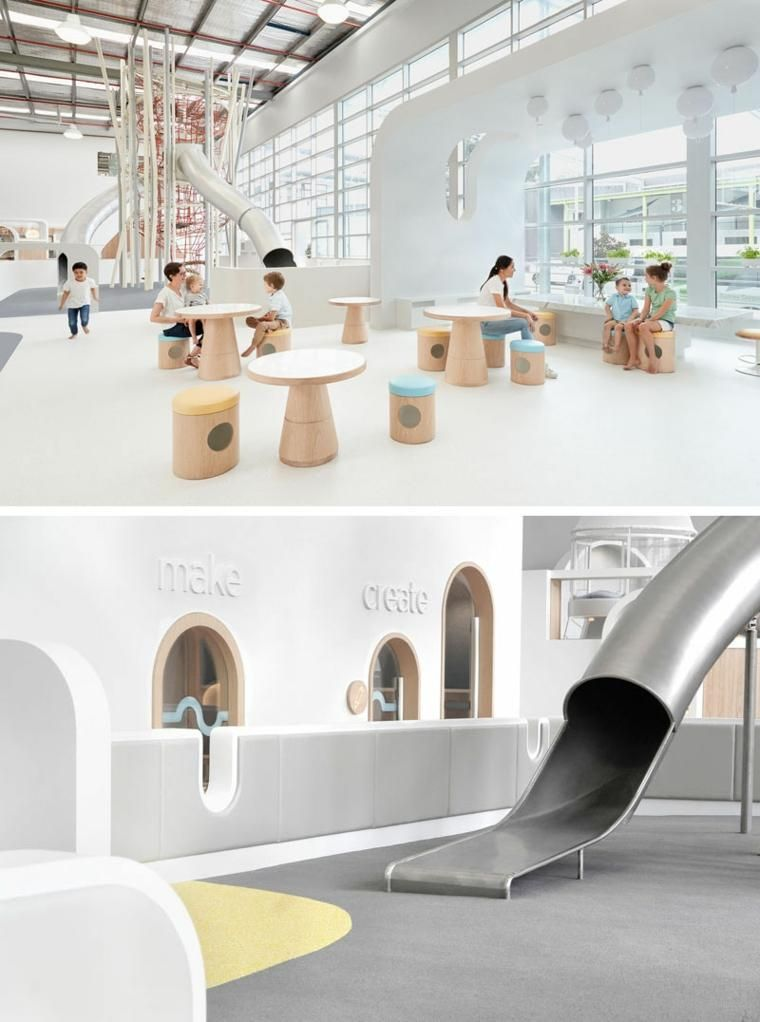 #Interior Design Haus 2018 Erholungsgebiet In Einem Spielzentrum Mit  Kreativem Design #Zuhause #Scandinavian