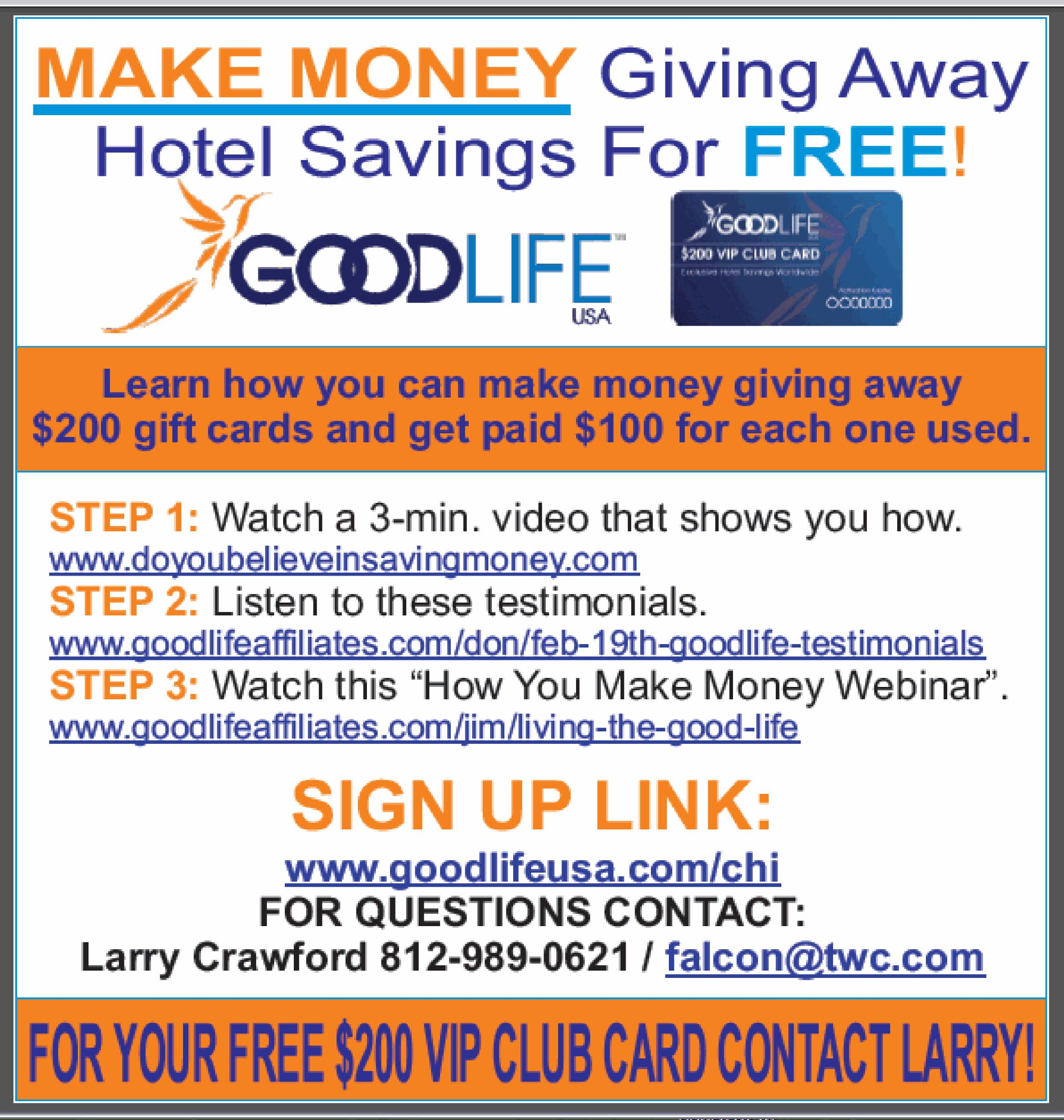 Learn how you can make money giving away $200 gift cards and
