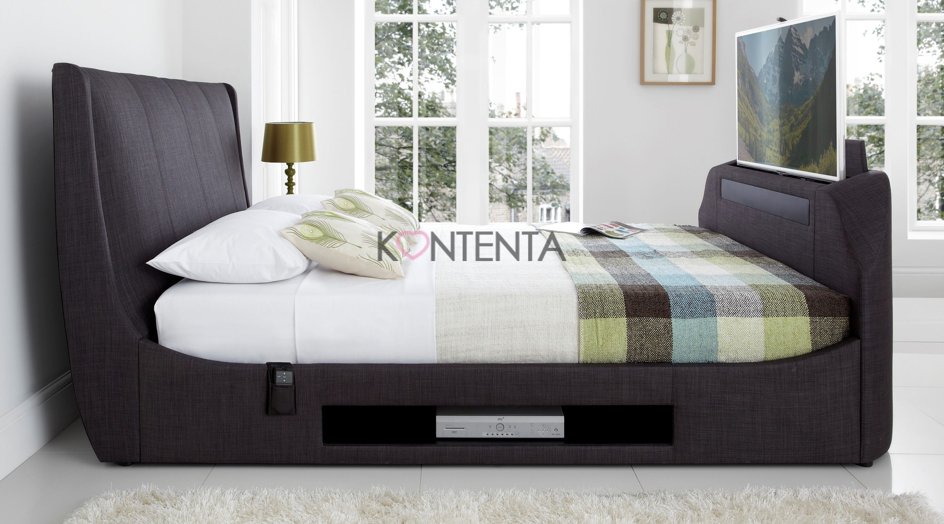 Kaydian sommer bed frame with sound bar and sub woofer which kaydian sommer bed frame with sound bar and sub woofer which offers amazing surround sound jeuxipadfo Images