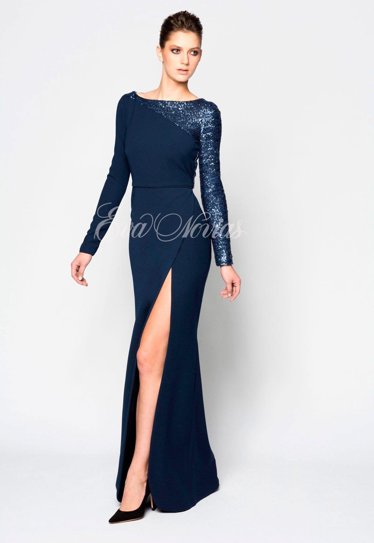 aae2522042 Vestido de fiesta o madrina Victoria coleccion 2017 Modelo Aniversario en  exclusiva en Madrid para Eva Novias Calle Goya
