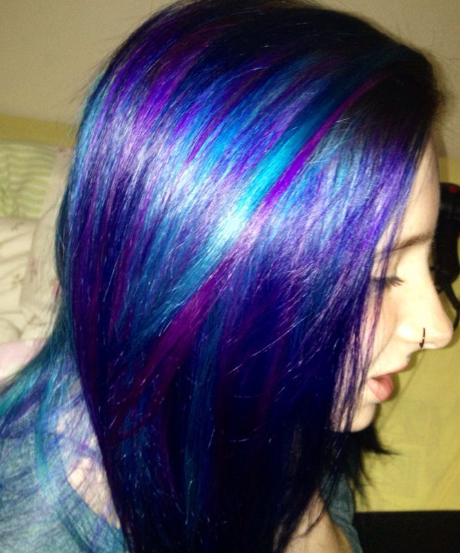 Manic Panic Shocking Blue Purple Haze Atomic Turquoise Hair
