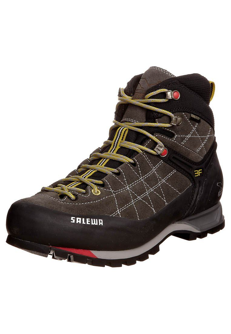 Salewa Mtn Trainer Mid Gtx Obuwie Hikingowe Charcoal Limeade Ciemnoszary Zalando Pl Boots Hiking Boots Hiking Shoes