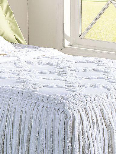 Drop Ruffle Chenille Bedspread