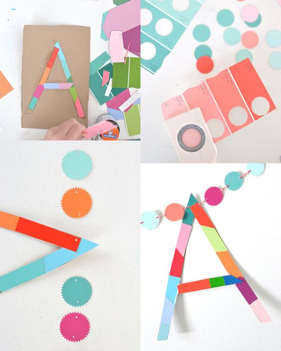 Make Name Garland Arts And Crafts For Kids Art For Kids Kids Art Projects