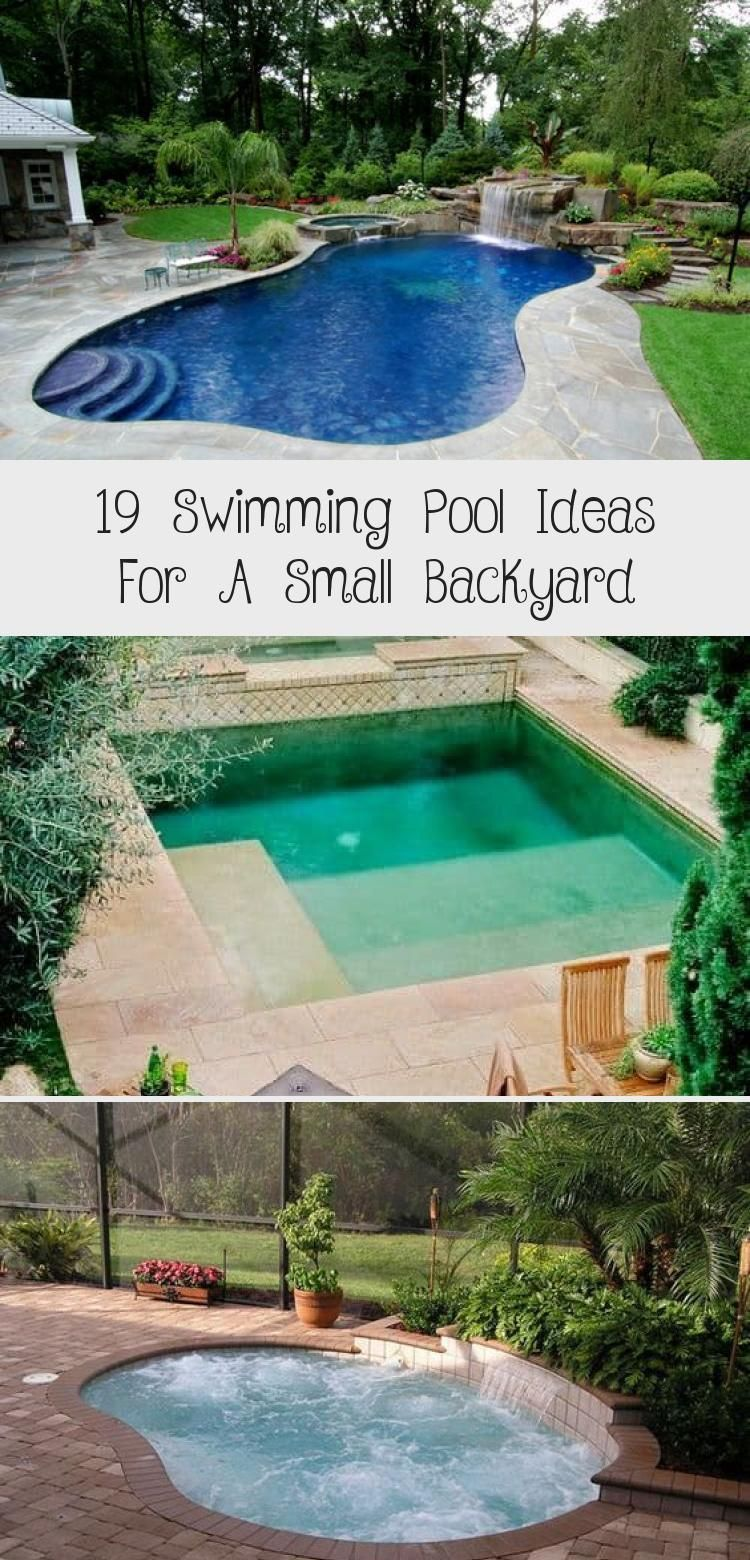19 Swimming Pool Ideas For A Small Backyard 13 Aroundthepoollandscaping Poollandscapinglighting P Small Pool Design Small Backyard Design Pool Landscaping