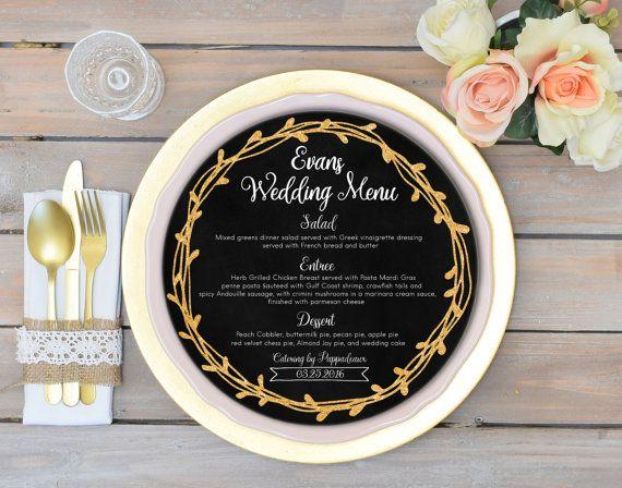 de 30 idées pour présenter votre menu de mariage